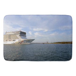 Decorated Cruise Ship Bow Bath Mat