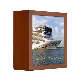 Decorated Cruise Ship Bow Custom Desk Organiser