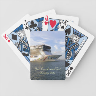 Decorated Cruise Ship Bow Custom Poker Deck