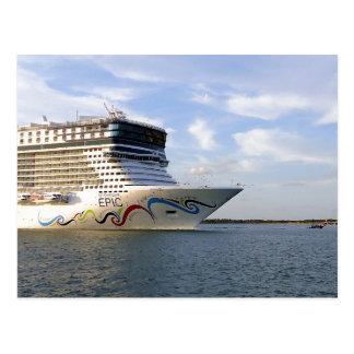 Decorated Cruise Ship Bow Custom Postcard