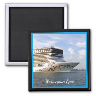 Decorated Cruise Ship Bow Custom Square Magnet