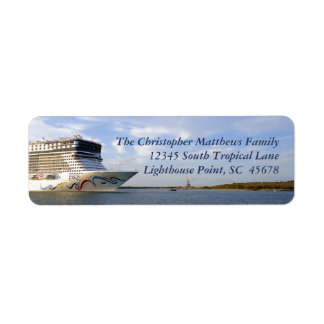 Decorated Cruise Ship Bow Personalized Return Address Label