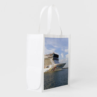 Decorated Cruise Ship Bow Reusable Grocery Bag