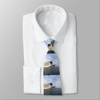 Decorated Cruise Ship Bow Stripe Tie
