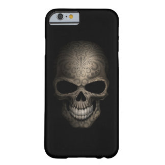 Decorated Dark Skull Barely There iPhone 6 Case