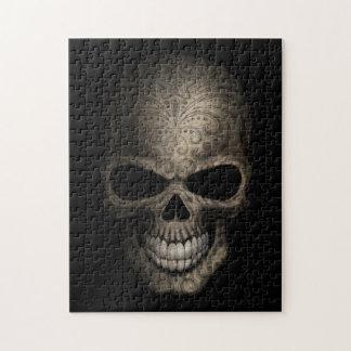 Decorated Dark Skull Jigsaw Puzzle