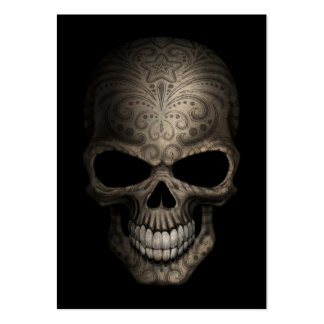 Decorated Dark Skull Pack Of Chubby Business Cards