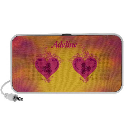 Decorated Double Hearts Mini Speaker