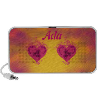Decorated Double Hearts Notebook Speaker