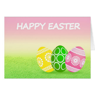 Decorated Easter Eggs Greeting Card