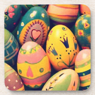 decorated Easter eggs Drink Coasters