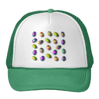 Decorated Easter Eggs Mesh Hats