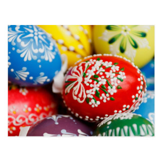 Decorated Easter Eggs Postcard
