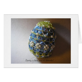 Decorated Egg for Spring Greeting Card
