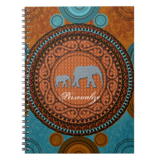Decorated Elephants Notebook