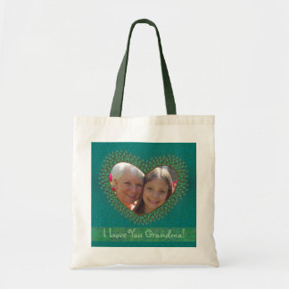 Decorated heart photo frame bags for Grandma