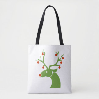 Decorated Rudolph Christmas Tote Bag
