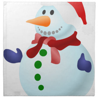 Decorated Snowman Napkin