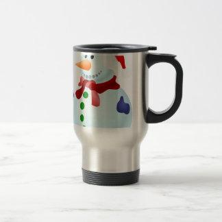 Decorated Snowman Travel Mug