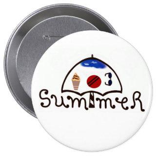 Decorated Summer Umbrella Button