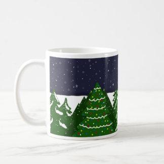 Decorated Tree Shining on a Winter Night Coffee Mug