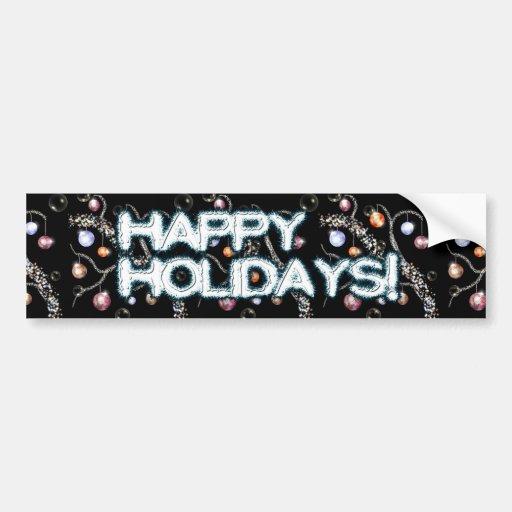 Decorated Yule Branch Bumper Sticker