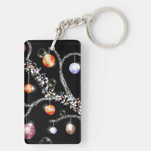 Decorated Yule Branch Acrylic Keychain