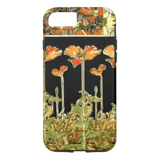 Decoratifs (Orange Flowers) by Alphonse Mucha iPhone 8/7 Case