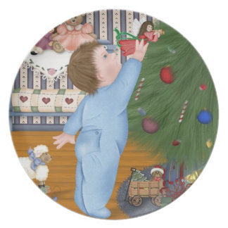 Decorating the Christmas Tree Decorative Plate