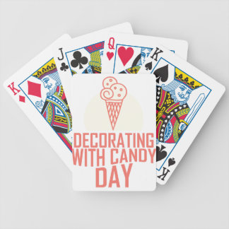 Decorating With Candy Day - Appreciation Day Bicycle Playing Cards