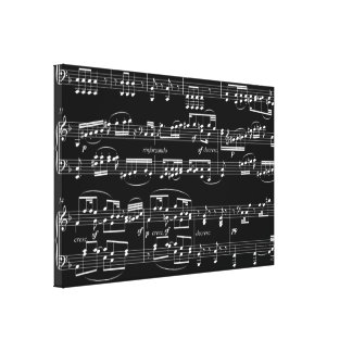 decorating with musical notes canvas prints