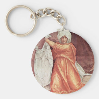 Decoration Of The Chapel Of Pope Leo X Santa Maria Basic Round Button Key Ring