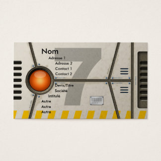 Decoration sci-fi business card