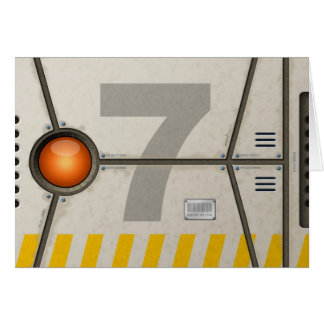 Decoration sci-fi greeting card