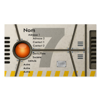 Decoration sci-fi pack of standard business cards