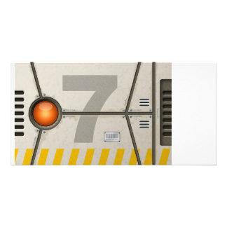 Decoration sci-fi photo greeting card
