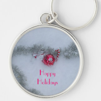 Decorations in Snow Key Ring