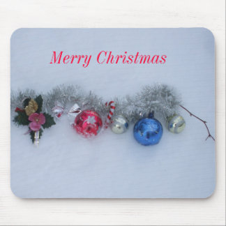Decorations in Snow Mouse Pad