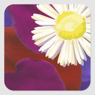 Decorations : Sensual Rose Petal Art Square Sticker