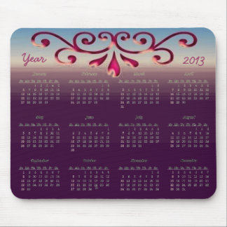 Decorative 2013 Calendar Mouse Pad