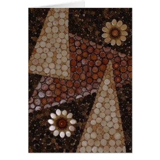 decorative abstract Geometric Pattern Mosiac Card
