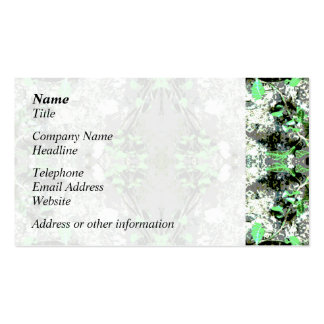 Decorative Abstract in Gray and Green. Business Cards