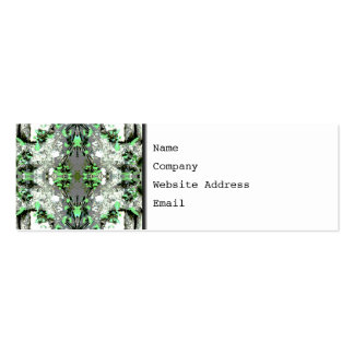 Decorative Abstract in Gray and Green. Pack Of Skinny Business Cards