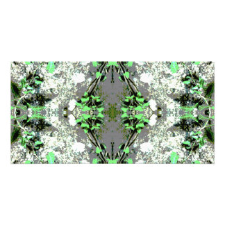 Decorative Abstract in Gray and Green Photo Greeting Card