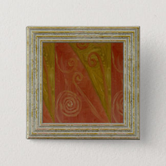 Decorative Abstract Pattern 15 Cm Square Badge