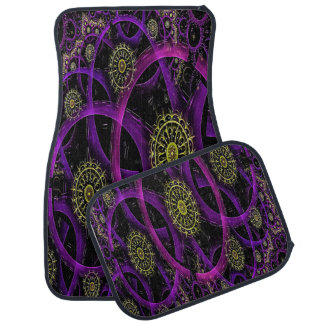 Decorative Abstract Spiral Set of 4 Car Mats