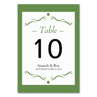 Decorative Accent Table Card Number