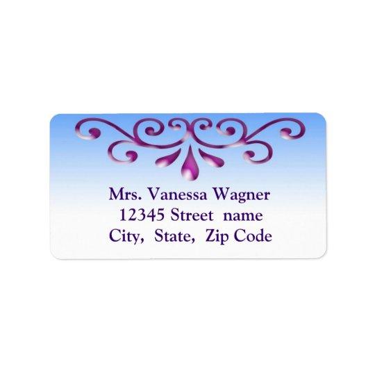 Decorative address label