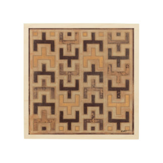 Decorative African Mudcloth Pattern Wood Print