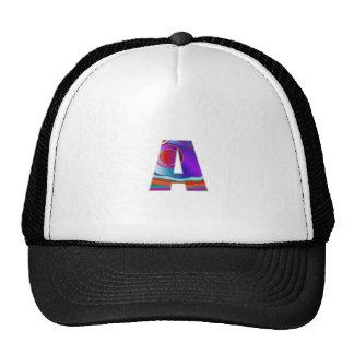 Decorative ALPHA Alphabet AAA Trucker Hat